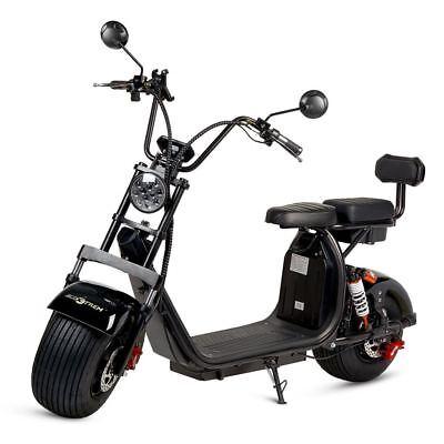 Moto electrica scooter de 1500w bateria 12Ah 60v chopper CityCoco color negra