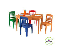 New KidKraft Euro Honey Table and 4-Chairs **Delivery available**