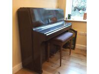 Upright Piano and Stool - Free to Collector