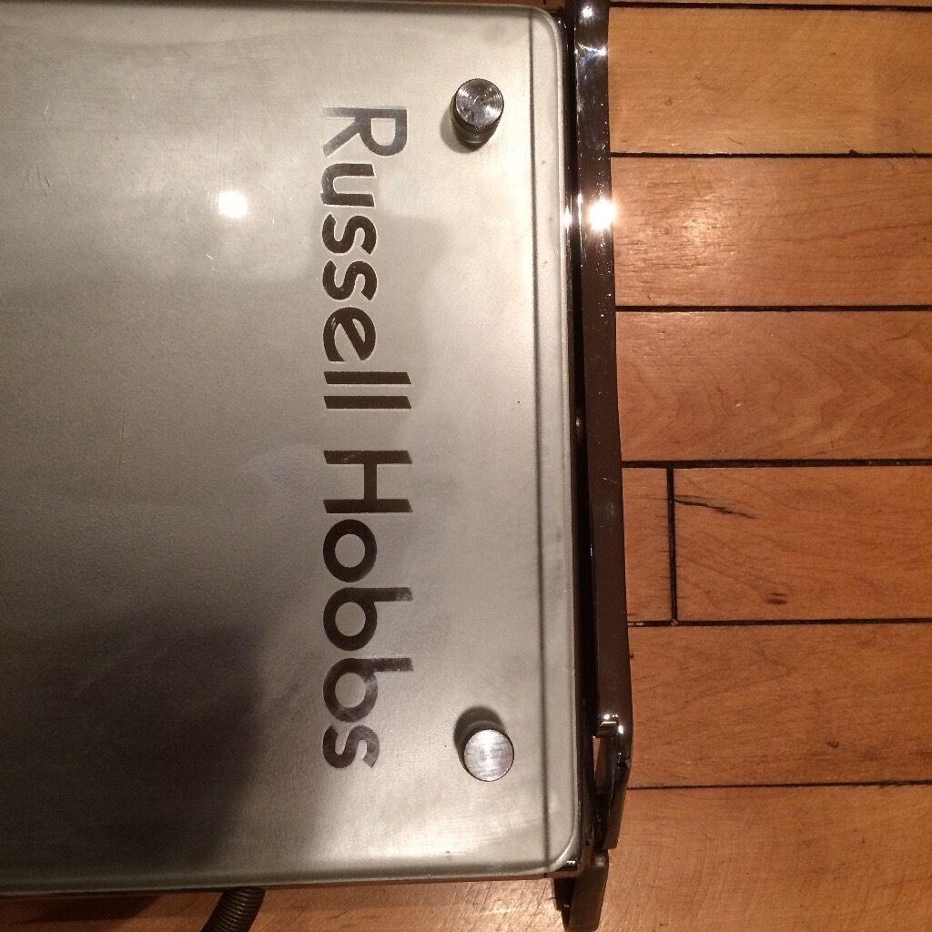 russell hobbs stainless steel and glass panini press in. Black Bedroom Furniture Sets. Home Design Ideas