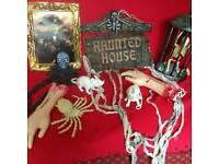 Job lot of Halloween decorations/costumes