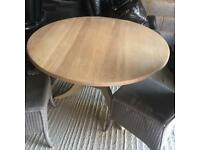 Pine dining table and 4 x chairs