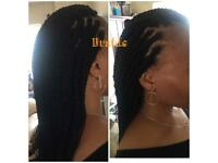 Mobile Afro hairdresser- Box Braids fr £30, crochet fr £25, Weave fr £15. Last minute welcome!!!