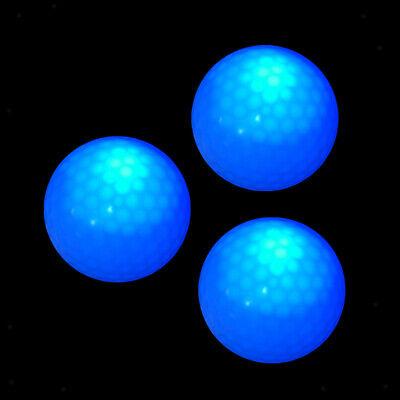 3 x Nacht Golfbälle Blaue LED Golfbälle perfekt für Nacht Golf und Praxis