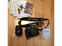 Canon EOS 300D Digital SLR Camera DSLR with lens. Boxed. Mint condition