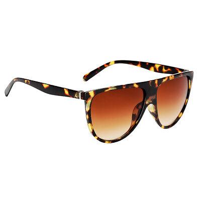 Frauen Vintage Sonnenbrille Cat Eye Polarized Anti-UV Brillen Leopard +Braun
