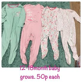 A range of baby clothes