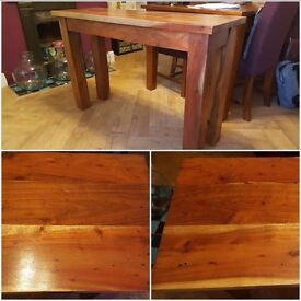 Solid mango wood console / side / hall table