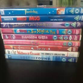 9 Childrens DVDs (Disney Tinkerbell, Cars, My Little Pony)