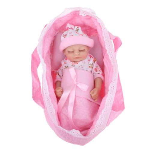 27cm 11inch Nicery Newborn Baby Girl Doll with Sleeping Bag/