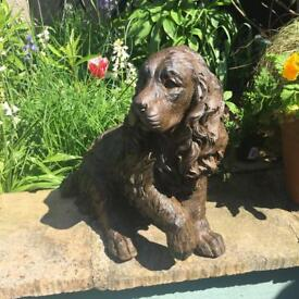 Fifi the King Charles Spaniel Garden Sculpture/Ornament (with poorly paw!)
