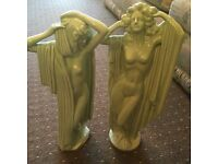 PAIR OF BEAUTIFUL ANTIQUE COLLECTABLE PORCELAIN STATUES - EXCELLENT CONDITION