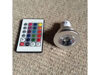 Colour changing bulb and remote control
