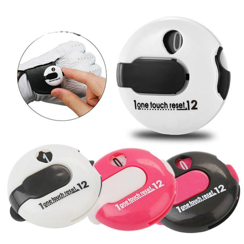 3Pcs Compact Golf Stroke Counter Clip-on Scorekeeper Golfing Attach to Glove