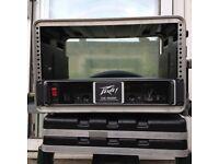 """Power Amplifier Peavey CS 3000 19"""" Rack Trolley Flight Case"""
