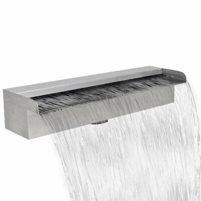vidaXL Rectangular Waterfall Pool Fountain Stainless Steel 45cm Pond Cascade