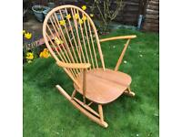 ERCOL ROCKING CHAIR ORIGINAL RETO IN FANTASTIC CONDITION WITH ORIGINAL CUSHIONS