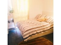 A bright, clean, newly furnished double bedroom in a spacious , beautiful flat.