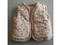 Girls body-warmer age 3-6 months
