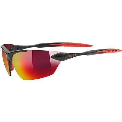 NEU! UVEX sportstyle 203 Sonnen Brille Schwarz-Rot Fahrrad Sport UVP: 39,95 EUR