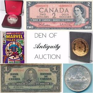 Gold Coins, Silver Bars, Bullion, Banknotes, Rare Collections, Uncirculated Notes, Vintage Comics, Devil's Face, Toning