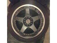 4x Lenso alloy wheels - 215/45 R17