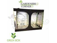 Hydroponics Green Box Grow Tent Room 400 x 400 x 200 cm Silver Mylar Indoor Bud