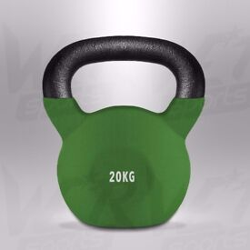 20kg Kettlebells With Rubber Sleeve Home Gym Fitness Exercise Kettlebell