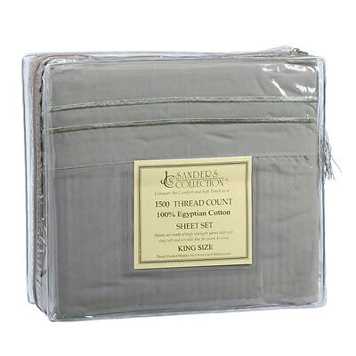 KING SIZE SAGE GREEN 1500 THREAD COUNT LUXURY EGYPTIAN COTTON SHEET SET (1500 Thread Count Egyptian Cotton Sheets King)