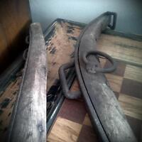 Antique iron/wood harness