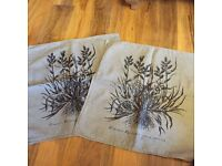 Large linen cushion covers x 2