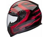 NEW XL 60 TO 62 CM Shox Sniper Full Face ACU Gold Approved Motorbike Motorcycle Bike Crash Helmet