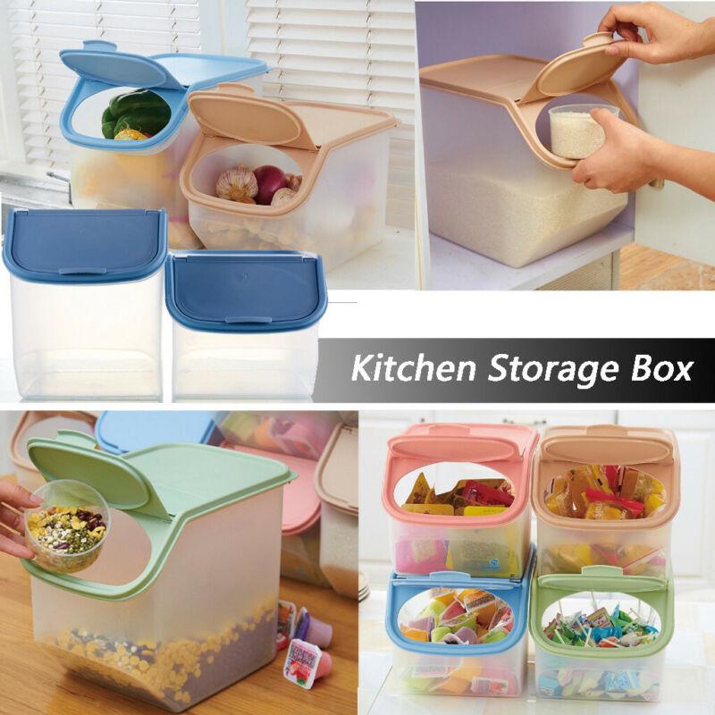 Kitchen Rice Fruit Storage Box Barreled Grain Large Capacity