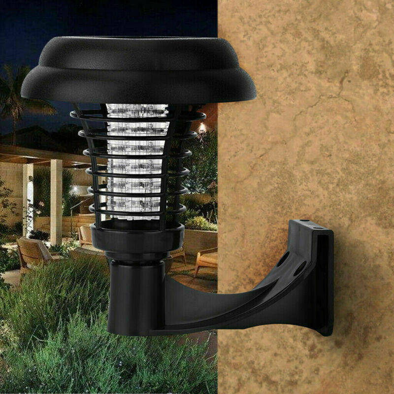 Outdoor Solar LED Lights Lamp Mosquito Killer Fly Bug Insect Repeller Zapper - $10.88