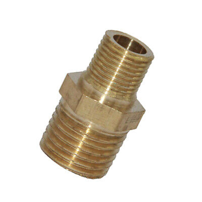 NEW Male NPT Thread Brass Hex Nipple Pipe Connecting Fitting Coupler Reducer