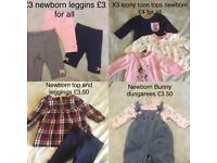 Newborn baby girls clothes bundle