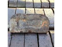 "33 Unit Bundle of 'Atlas' Reclaimed Shaped Double Bullnose Blue Edging/Coping Bricks (9""x4.5""x7"")"