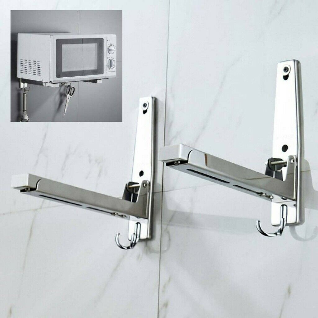 Edelstahl Mikrowellenhalterung Mikrowellenhalter Wandhalter Regal für bis 50 kg