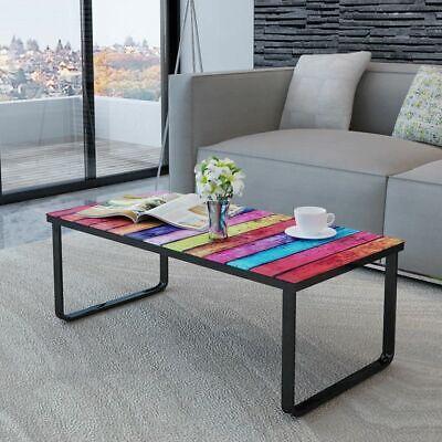 Mesa de Centro Superficie con Impresión Arcoiris Mesita de Salón Café vidaXL