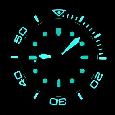 RARE Green Dial Lumed Ceramic Bezel Deep Blue LE #0078 Sea Diver Automatic Watch Bezel Green Wrist Watch