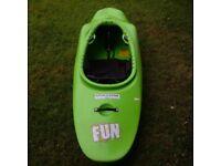 Jackson Fun Kayak with happy seat.