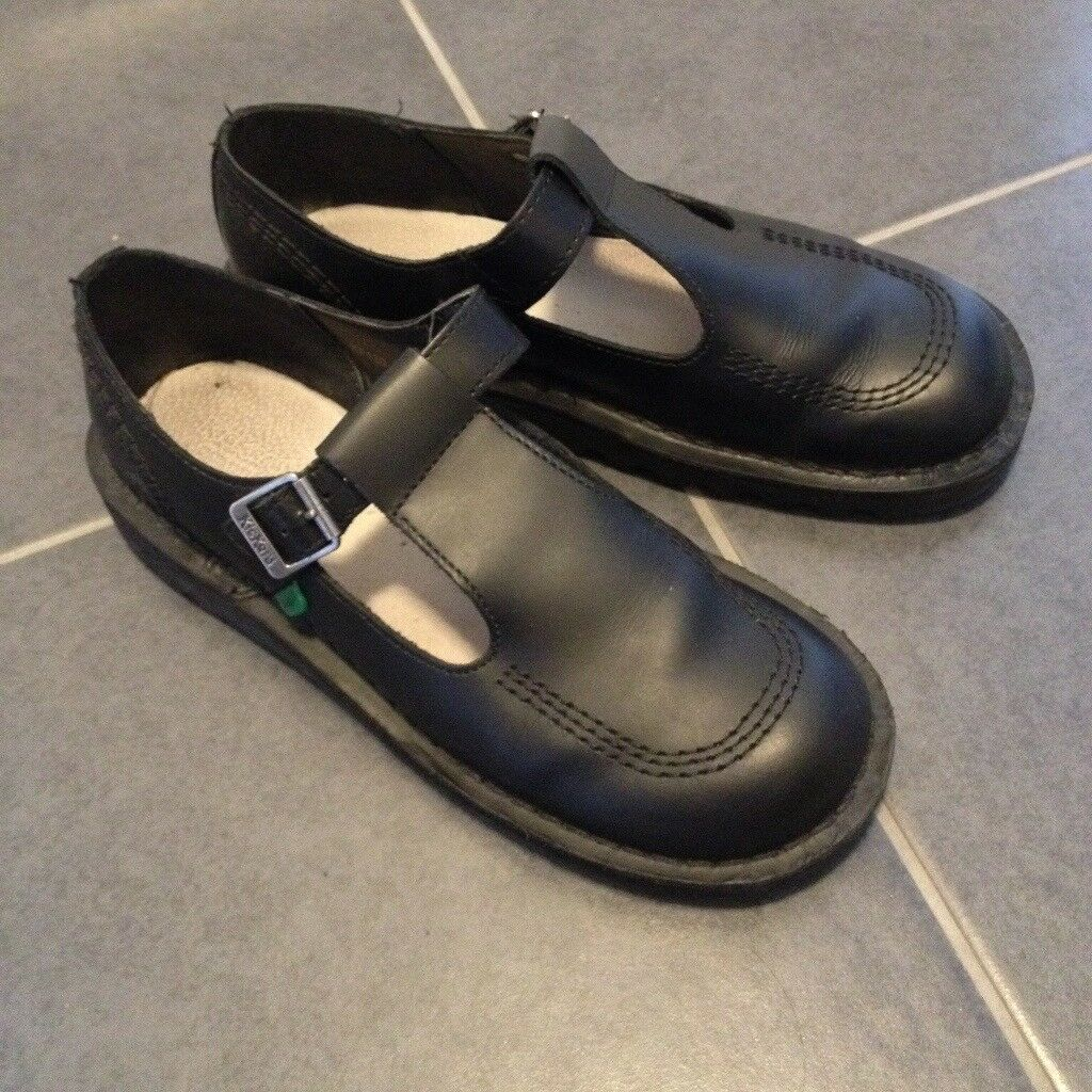 21dba24d61 Kickers Women's Shoes Black Leather Kick Lo Aztec T Bar | in ...