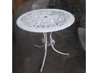 CAST METAL TABLE 70cm DIAMETER