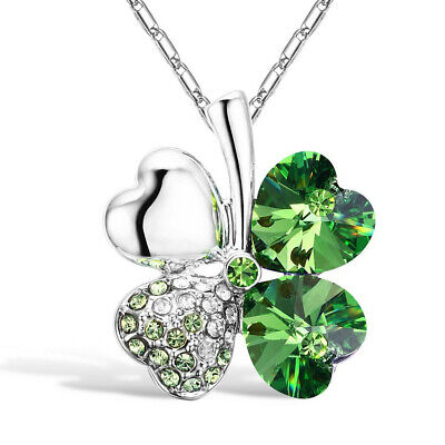 Used, Austrian Crystal 4 Heart Leaf Clover with Swarovski Elements for sale  Shipping to South Africa