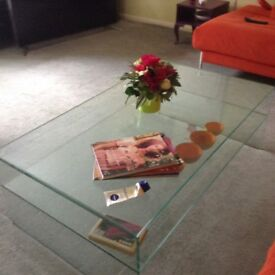 Glass Coffee Table, scratch resistant glass.