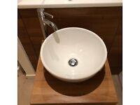 Porcelanosa Ceramic Countertop Round Basin & Tap