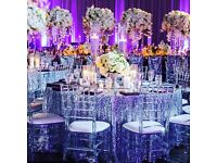 Crystal chiavari chairs for hire! Wedding hire, Wedding decor, wedding chair. Delievery available!!