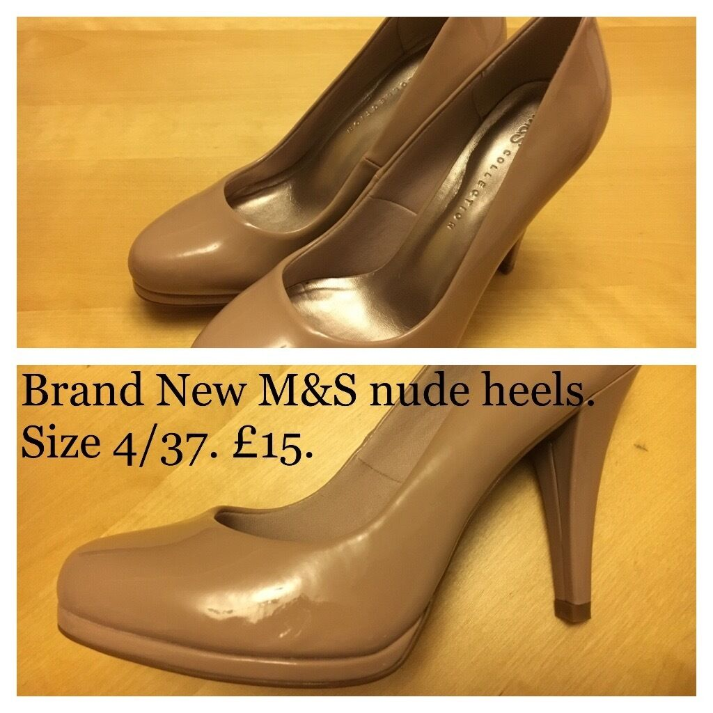 Brand New M&ampS nude heels. Size 4/37. | in Cambridge