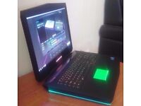 Alienware 18,i7-4940MX,32GB DDR3, 880M SLI(16GB DDR5),256 SSD,1TB HDD,Blu-Ray,Win7 Pro, In Warranty