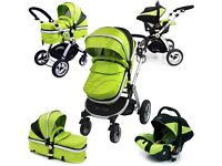 3 in 1 pram with accessories